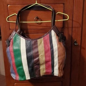 Lucky Brand - multi-color vintage leather bag